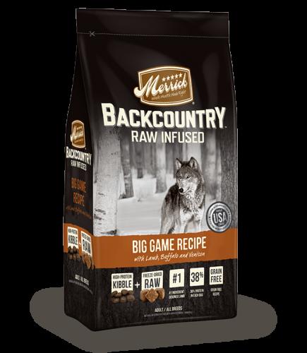 Merrick Backcountry Raw Infused Big Game Recipe
