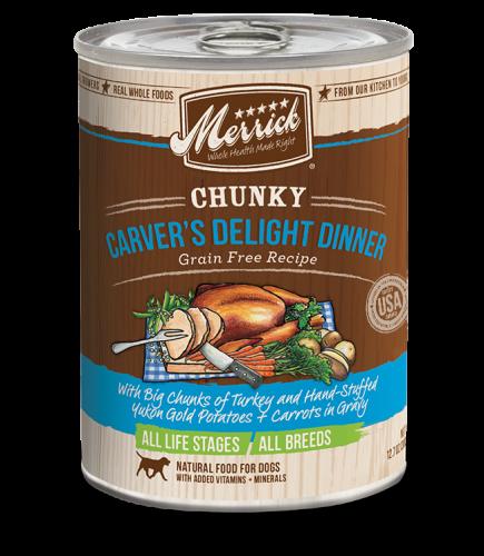 Merrick Chunky Grain-Free Carver's Delight Dinner Canned Dog Food