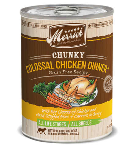 Merrick Chunky Grain-Free Carver's Colossal Chicken Dinner Canned Dog Food