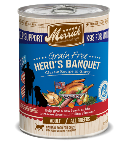 Merrick Grain-Free Hero's Banquet Recipe in Gravy Canned Dog Food