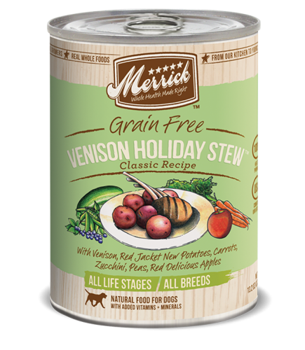 Merrick Grain-Free Venison Holiday Stew Canned Dog Food