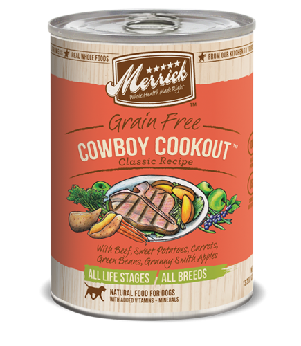Merrick Grain-Free Cowboy Cookout Canned Dog Food
