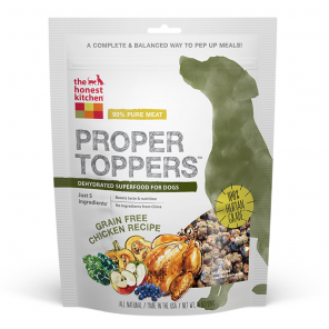 The Honest Kitchen Proper Toppers Grain-Free Chicken Recipe Dog Food Topper