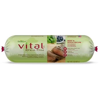 FreshPet Vital Grain Free Beef & Bison Dog Food, 1 lb.