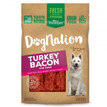 FreshPet Dognation Turkey Bacon Dog Treats, 3 oz.