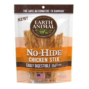 Earth Animal No-Hide Chicken Stix for Dogs, 10pk.