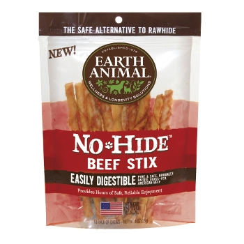 Earth Animal No-Hide Beef Stix for Dogs, 10pk