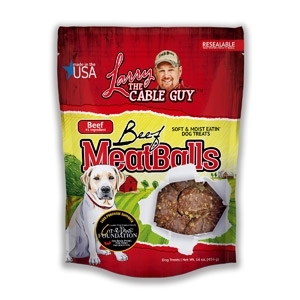 Larry the Cable Guy Good Ole Boy Beef Meatballs Dog Treats, 16 oz.