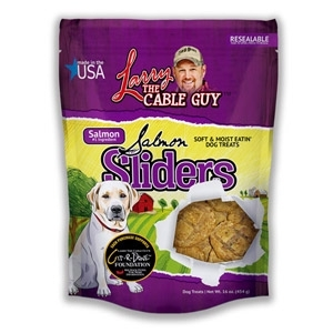 Larry The Cable Guy Good Ole Boy Salmon Sliders Dog Treats, 16 oz.