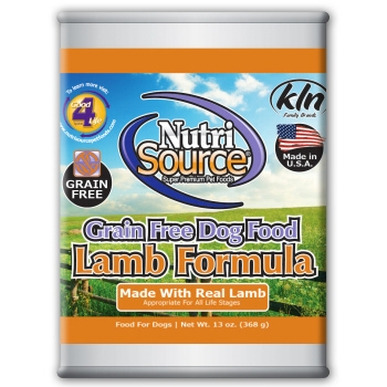 NutriSource Grain Free Lamb Canned Dog Food, 13 oz.