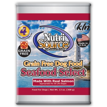 NutriSource Grain Free Seafood Select Canned Dog Food, 13 oz.