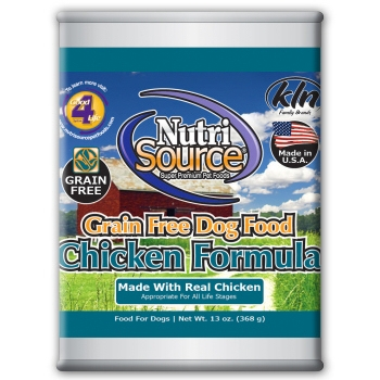 NutriSource Grain Free Chicken Canned Dog Food, 13 oz.