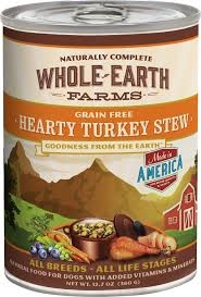 Whole Earth Farms Grain-Free Hearty Turkey Stew Canned Dog Food