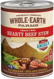 Whole Earth Farms Grain-Free Hearty Beef Stew Canned Dog Food