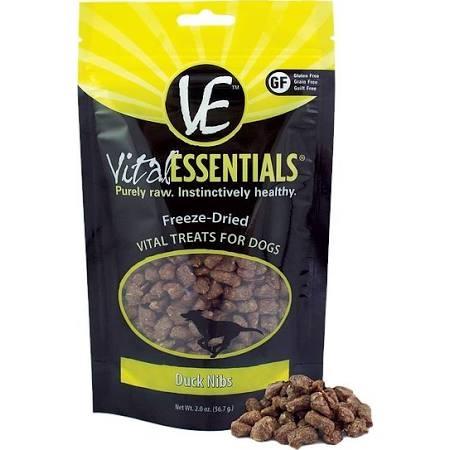 Vital Essentials Duck Nibs Freeze-Dried Dog Treats