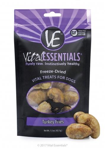 Vital Essentials Turkey Fries Freeze-Dried Dog Treats