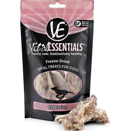 Vital Essentials Rabbit Ears Freeze-Dried Dog Treats