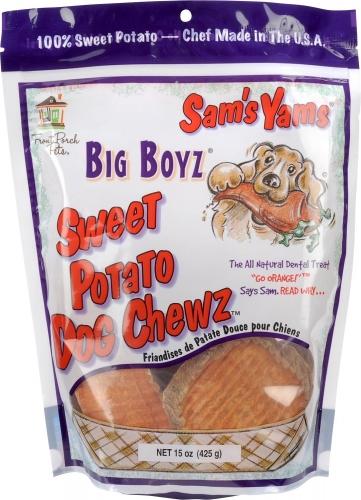 Sam's Yams Big Boyz Sweet Potato Dog Treats, 15-oz bag
