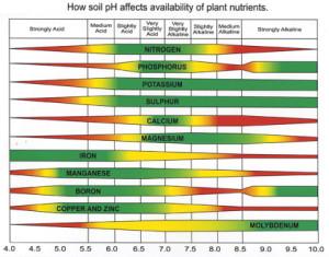 soil ph nutrient chart