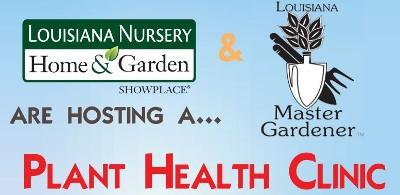 Plant Health Clinic on Saturday, April 1st