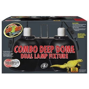 Zoo Med Combo Deep Dome Dual Lamp Fixture