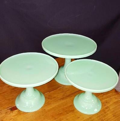 Seafoam Green Colored Cake Stands