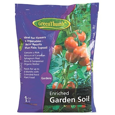1 cu. ft. Green Thumb Enriched Garden Soil, $4.99