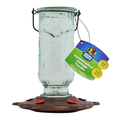 Vintage Mason Jar Hummingbird Feeder
