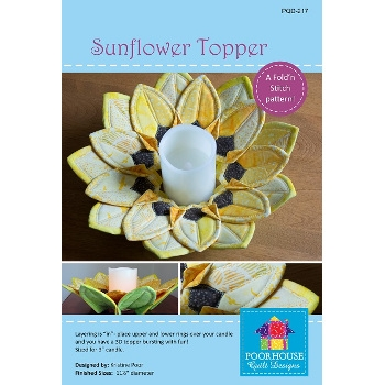 Sunflower Topper by Poorhouse Quick Designs