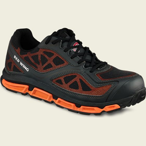 Men's Athletic Shoe, Black-Orange