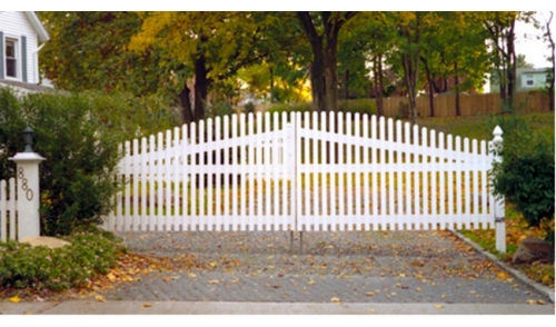 What do you think the fencing in the picture below is made out of?