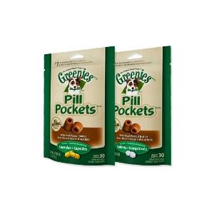 Canine Greenies Pill Pocket Peanut Butter Capsule - 3.2 oz.