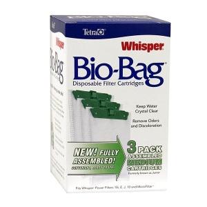 Whisper® Assembled BioBag Filter Cartridges- Medium 3pk
