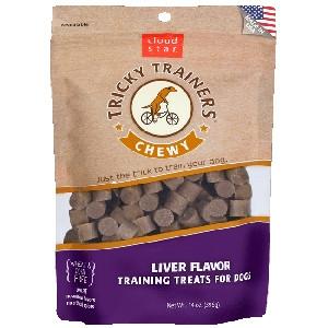 Chewy Tricky Trainers Dog Treats: Liver 14 oz.