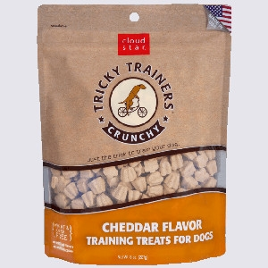 Crunchy Tricky Trainers Dog, Cheddar 8 oz.