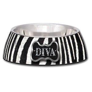 Loving Pet Milano Collection® Dog Bowl – Diva Zebra