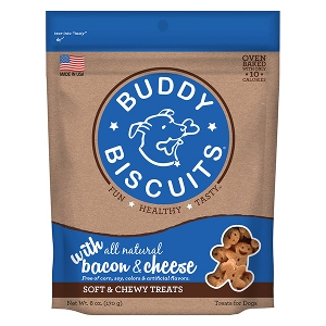 Buddy Biscuits Original Soft & Chewy Treats - Bacon & Cheese