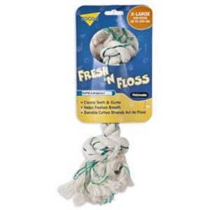 Petmate Fresh 'N Floss 2Knot Bone Spearmint