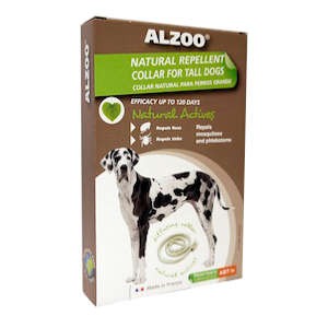 Alzoo Natural Repellent Collar For Large Breeds