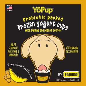 Yöghund's YöPup All-Natural Frozen Yogurt Cups - Peanut Butter & Banana
