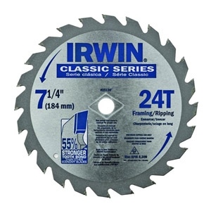 Irwin® 7-1/4-In. 24-Tooth Circular Saw Blade