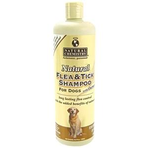 Natural Flea & Tick Shampoo W/Oatmeal 16 Ounce