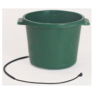 HEATED PLASTIC TUB Green/16 Gal.