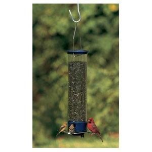 """Yankee Whipper Squirrel Proof Bird feeder Blue 21"""""""