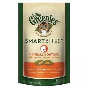 Feline Greenies Smartbites - Hairball Control
