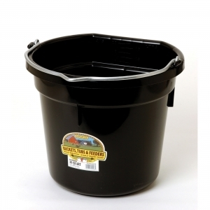 Flat Back Plastic Bucket