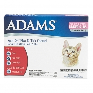 Adams Flea & Tick Spot On For Cats And Kittens