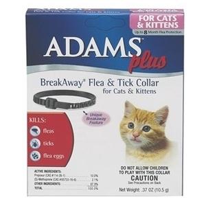 Adams Plus Breakaway Flea & Tick Collar For Cat