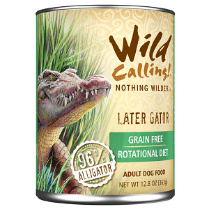 "Wild Calling Later Gatorâ""¢ Canned Dog Food"