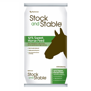 Stock and Stable 12% Sweet Horse Feed 50lb